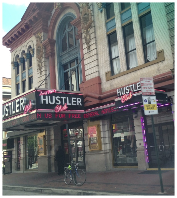 So apparently, now it costs more to park than to go to The Hustler Club, where they're running a free admission promo.