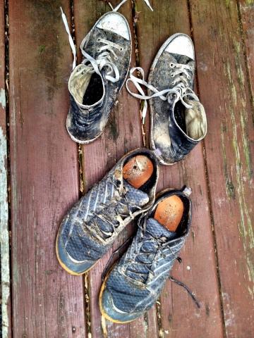 muddy sneaker