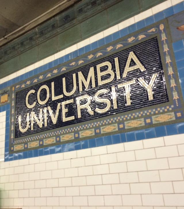 Subway Station: NYC  One stop on our college tour adventure